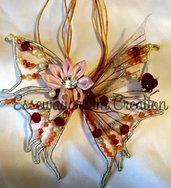 collana butterfly red