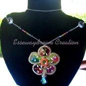 flower rainbow necklace