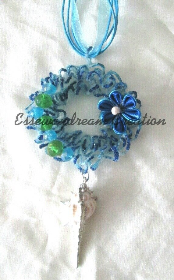 collana sugar wire blu