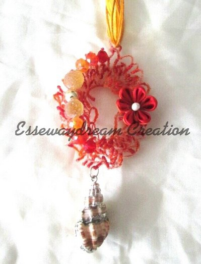 collana sugar wire arancio