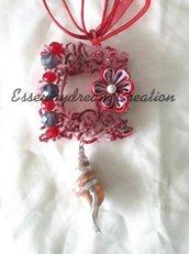 collana sugar wire rosso-viola