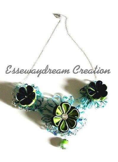 collana blue flower
