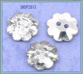bottone a fiore in acrilico 13 mm per scrapbooking o bijoux