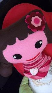 Bambola Linda stoffa e pannolenci