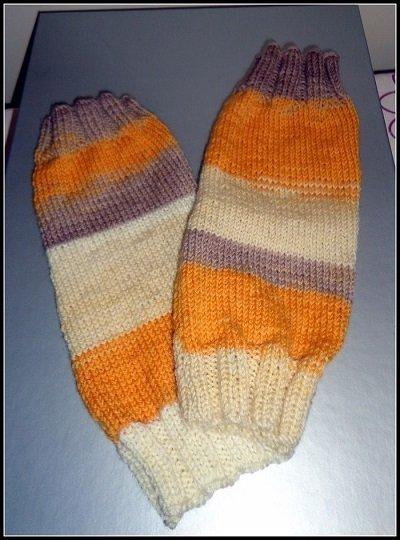 maniche manicotto lana ai ferri