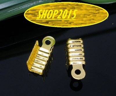 15 pz Capocorda terminale 12x5 mm dorato Chiusura Finale