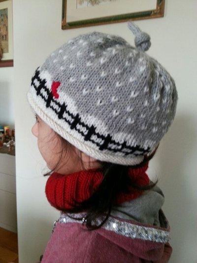 """Coordinato cappello bambina """"neve"""" e scaldacollo"""