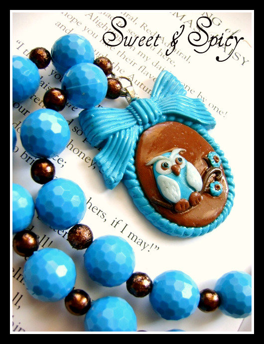 MODERN CAMEO GIRLIE COLLECTION-TORQUOISE OWL