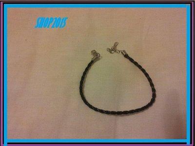 Bracciale Braccialetto in Cuoio Artificiale 20 cm nero
