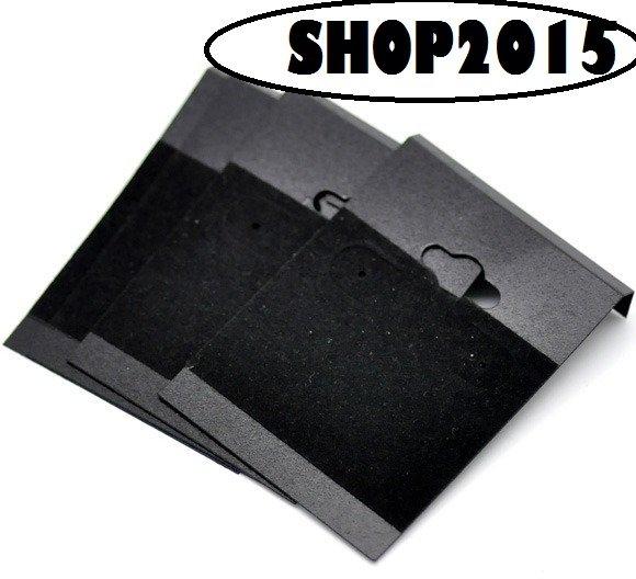 Cartoncino in velluto nero Espositore display per Orecchini  6.2x4.5cm