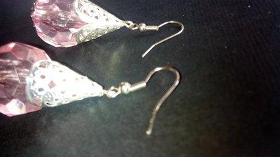 €0,69 al paio lotto di Orecchini Pendenti a goccia Perla Grande 20mm sfaccettata e copri perla stile marocchino fatti a mano stock rivendita