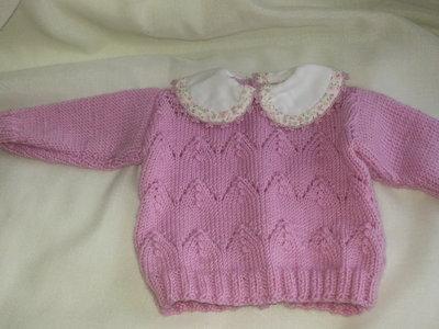golfino rosa per neonata