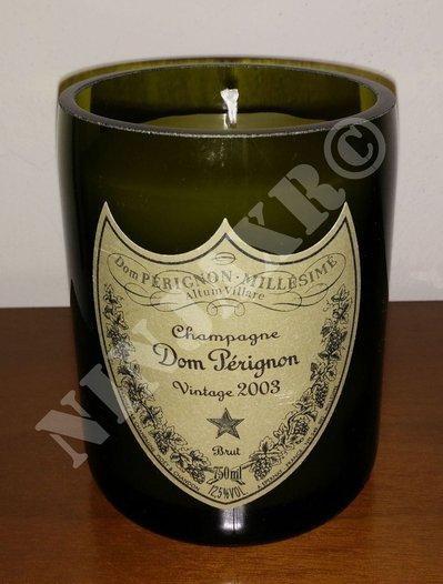Candela Bottiglia Champagne Dom Perignon Portacandela