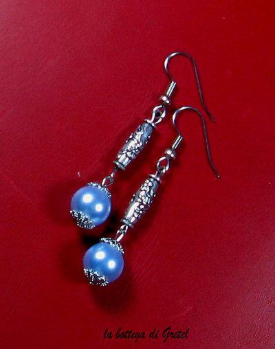orecchini con perle cerate