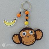 Portachiavi scimmia con banana
