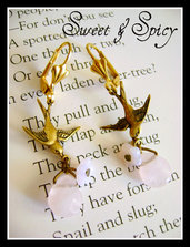 SPARROWS & FLOWERS VINTAGE EARRINGS