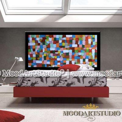 Art explosion testiera da letto moderna dipinta a mano - Testiera letto moderna ...