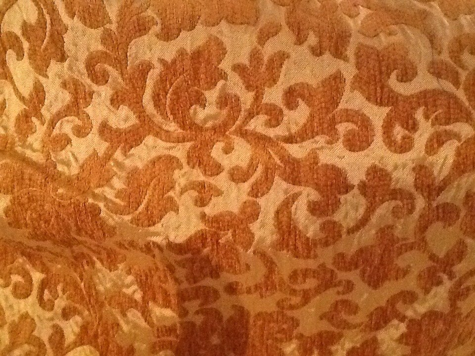 Tessuto jacquard damascato