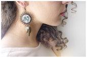 orecchini in bronzo anticato e pendenti vintage style