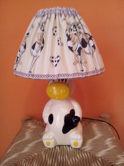 Abatjour, lampada a mucca rivestita