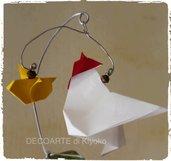 Gallo e pulcino in Origami
