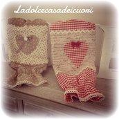 Porta sacchetti in stoffa