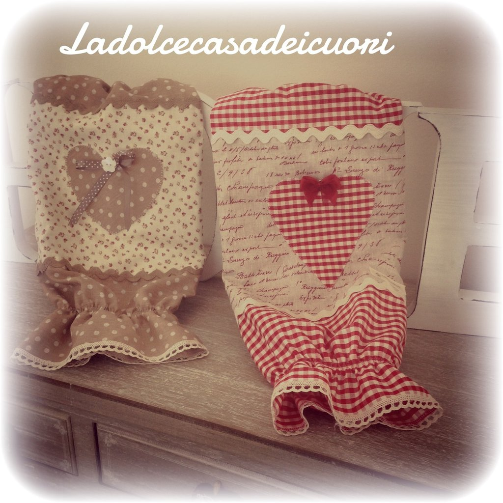 Porta sacchetti in stoffa per la casa e per te cucina di lado su misshobby - Porta sacchetti ...