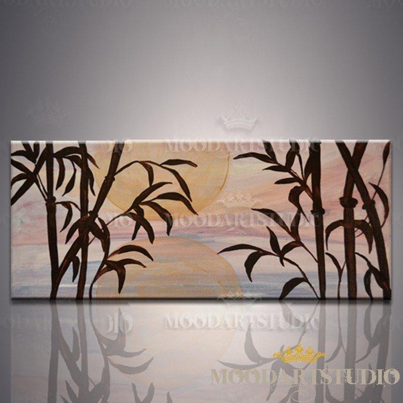 Bambù - Testata da letto dipinta a mano
