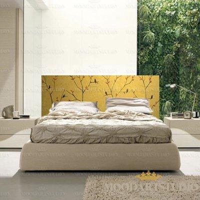Golden birds testiera da letto dipinta a mano per la casa e per su misshobby - Quadro testata letto ...
