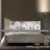 Testata da letto Fiori minimalisti