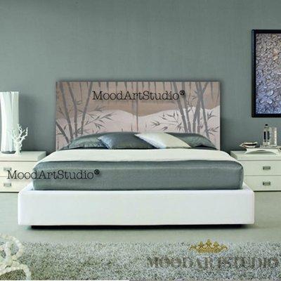 Testiera da letto Bambù grigio