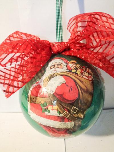 Sfera Nataliza Babbo Natale