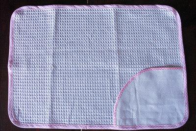 Asciugamano salvietta asilo nido d'ape spugna da ricamare aida rosa azzurra
