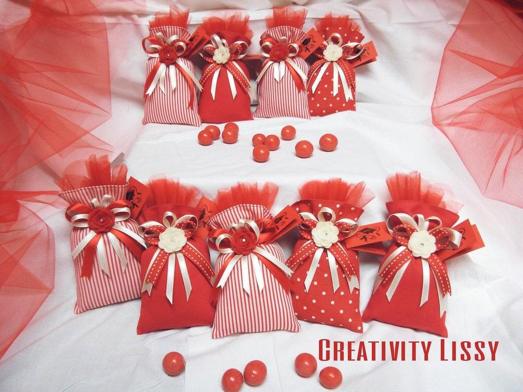 Sacchetti porta confetti per laurea feste bomboniere for Addobbi per laurea
