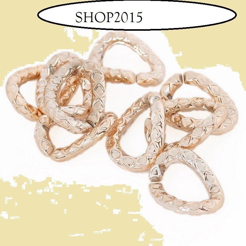 connettore anello a goccia  dorato apribile per creare collana circa 2 cmx11 mm