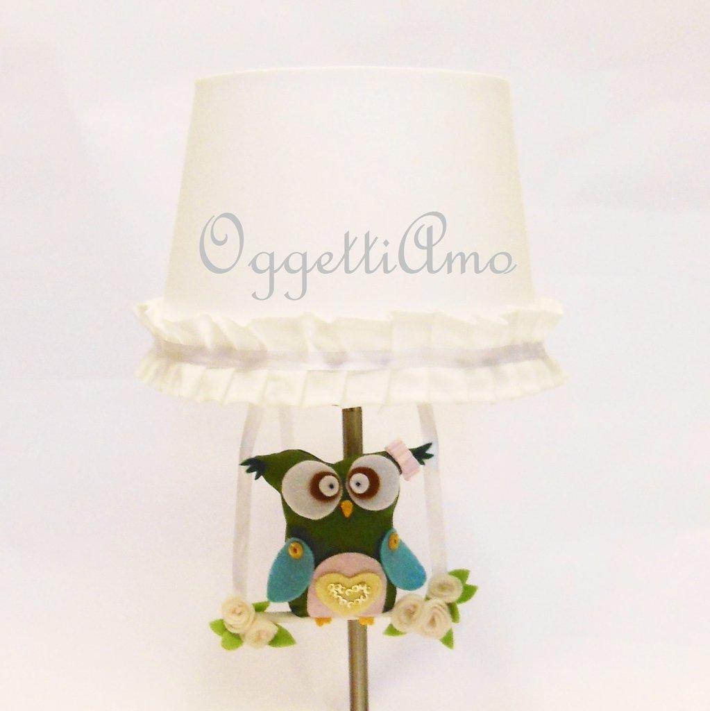 Paralume per lampada da tavola per decorare la cameretta della vostra bambina in modo personalizzato ed originale!
