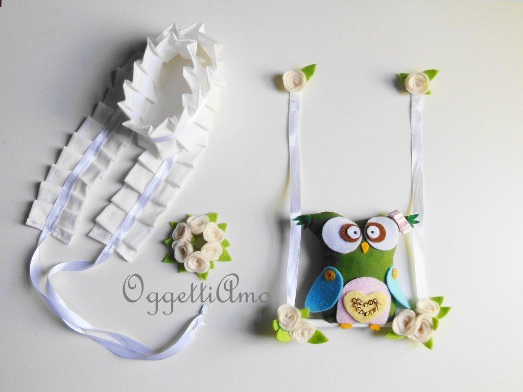 Accessori per la vostra lampada: il paralume assumerà un aspetto da favola con gufi, gale e fiorellini di feltro e cotone!