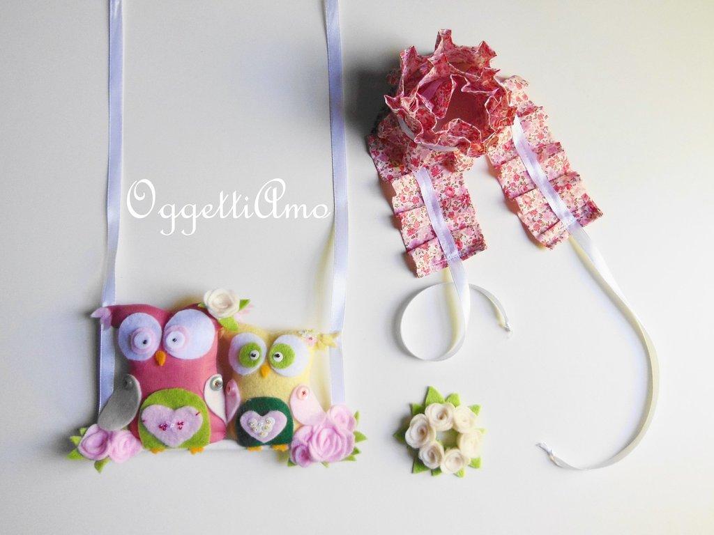 Accessori per decorare la vostra lampada da tavolo con gale, gufetti e fiori in feltro per rinnovarla e decorarla in modo originale e romantico!