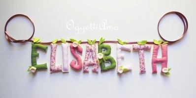 Elisabeth: ghirlanda di lettere di cotone imbottite per un regalo originale e super-personalizzato!