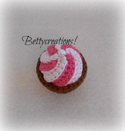 Calamita Magnete Cupcake Uncinetto 1