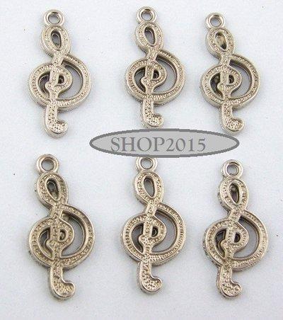 Charm Ciondolo nota musicale chiave di violino 1,3×2,8 cm