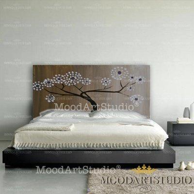 Testiera da letto con albero astratto