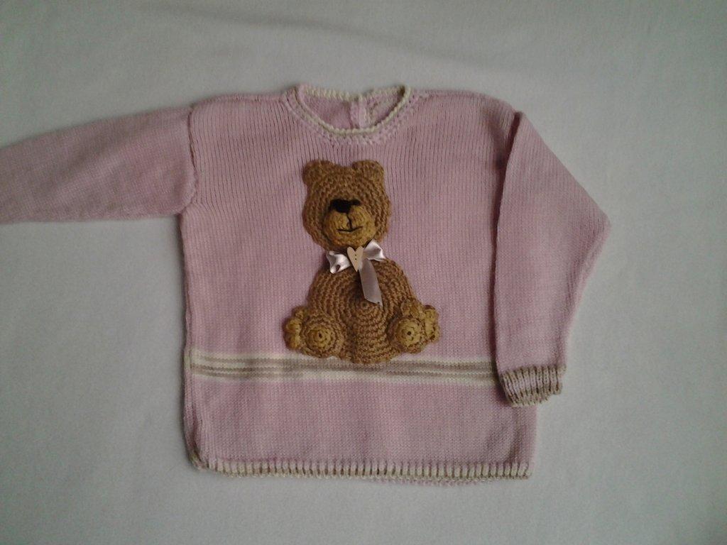 Maglioncino orsetto bambina