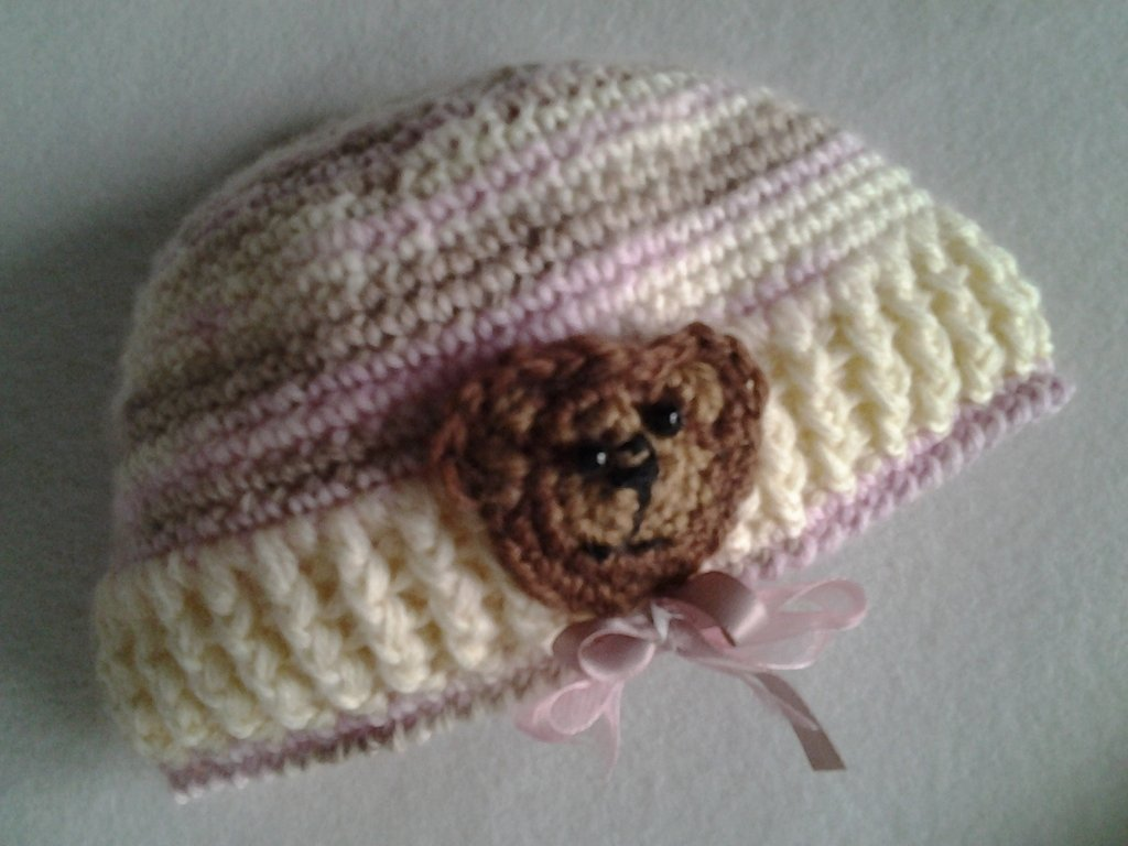 Cappello uncinetto neonata