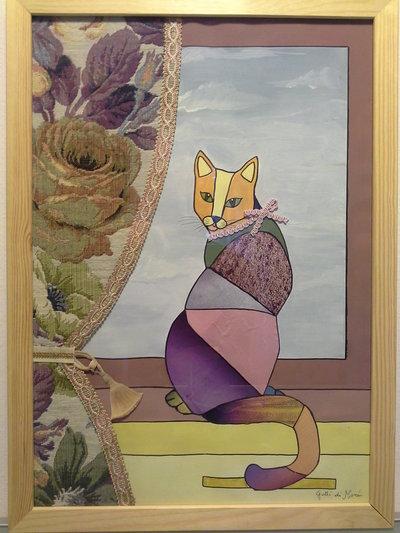 Quadro con gatto dalla finestra per la casa e per te - Quadro finestra ...