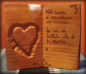 libretto in legno