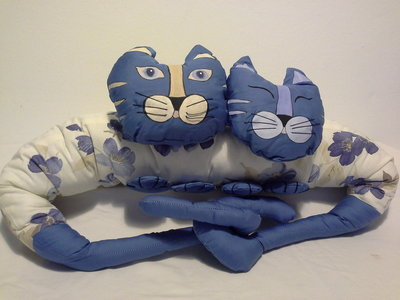 Cuscino para spifferi di stoffa con gatti