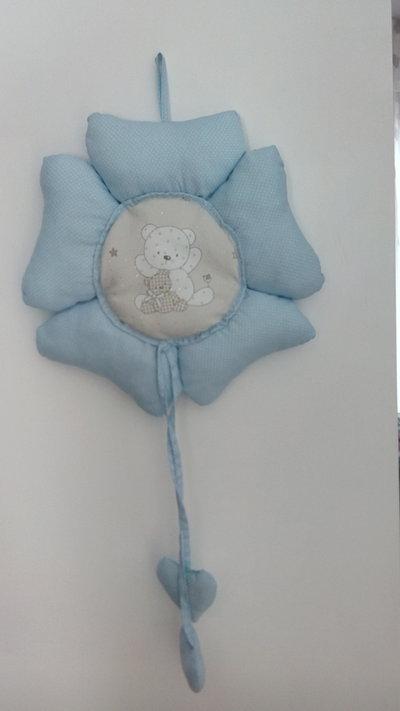 Fiocco nascita blu con orsetto