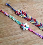 Bracciale multicolor macramè