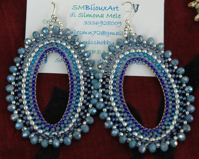 Orecchini Ovali Big Blue